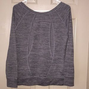 BCG Grey Long Sleeve Top With Cut Out, Size M